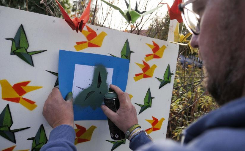 Voller Erfolg Ende Oktober | Apfelfest mit Mitmach-Graffiti-Origami-Aktion