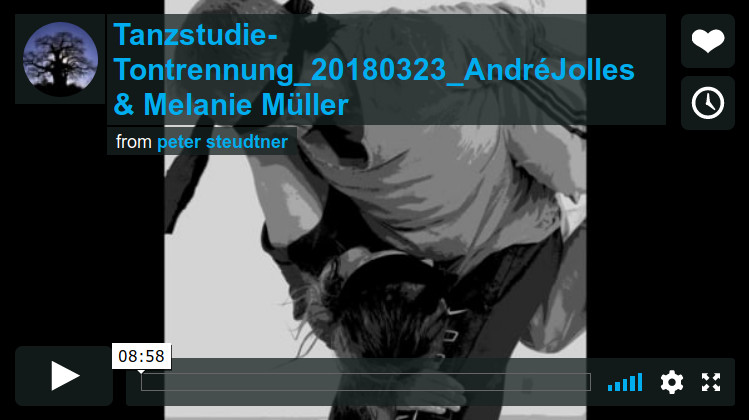 Tanz-Photo-Video-Studien mit André Jolles und Melanie Müller | März 2018