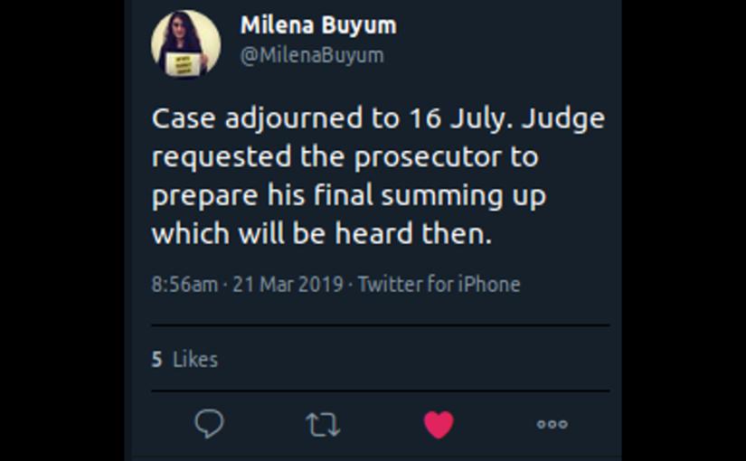 Prozess vertagt auf den 16. Juli 2019
