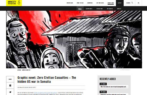Grausam inspirierend | Graphic novel: Zero Civilian Casualties – The hidden US war in Somalia