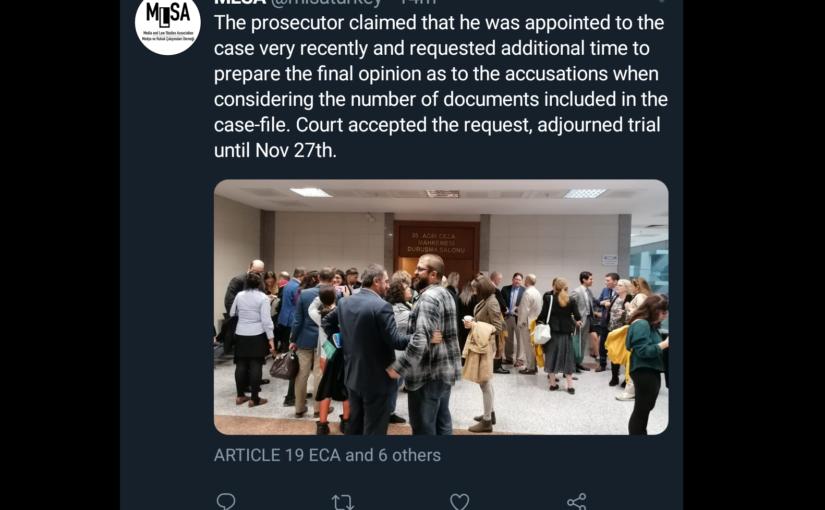 Gericht vertagt Prozess erneut: 27. November 2019