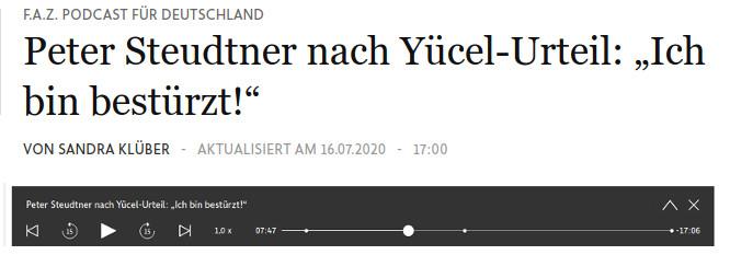 FAZ-Podcast zu den Gerichtsentscheiden gegen Deniz Yücel und uns #Istanbul10
